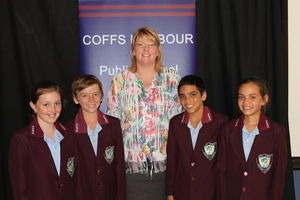 Principal, Ms Leonie Buehler and School Captains